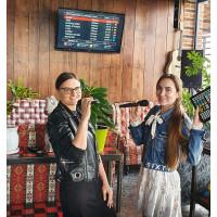 Установка караоке комплекта в кафе Кубана-Кабана